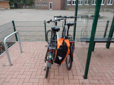 Anlehnbügel ohne Platz für zweites Rad